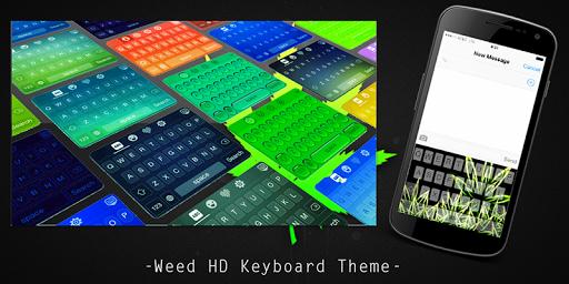 Weed HD Keyboard Theme
