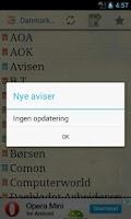 Screenshot of Danske Aviser
