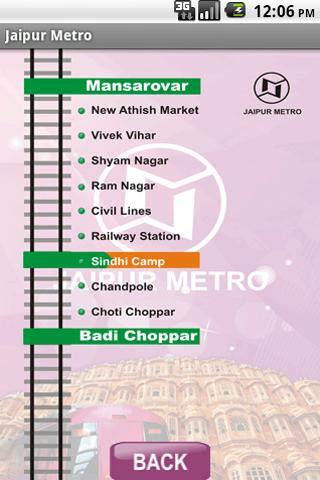jaipur metro - screenshot