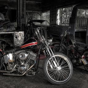 Old School by David Kawchak - Transportation Motorcycles ( old school motorcycle, custom motorcycle, old school, custom bike, custom built motorcycle )