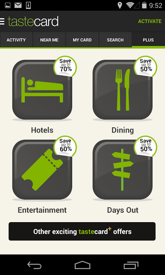 tastecard Restaurant Discounts - screenshot