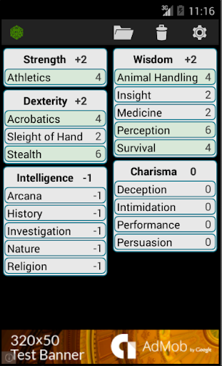 Fifth Edition Character Sheet screenshot