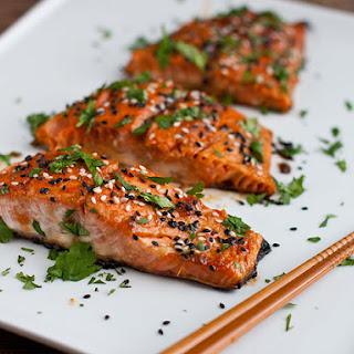 Honey and Wasabi Salmon.
