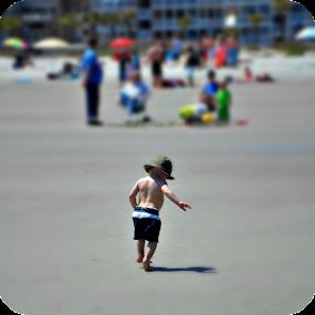 Later, Dude. by Regina Watkins - Babies & Children Toddlers ( walking away, toddler, boy, oceaan,  )