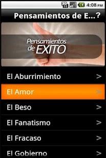 Pensamientos de Exito- screenshot thumbnail