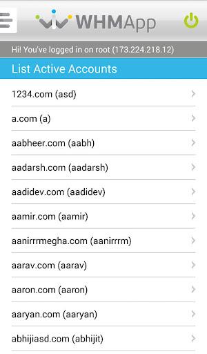 WHM App for Root & Reseller screenshot