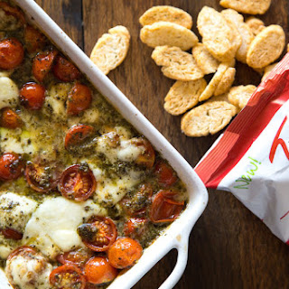 Hot Caprese Dip with TWISTOS Bruschetta Flavored Baked Snack Bites