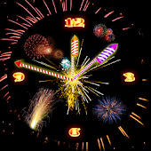 Rocket Diwali Clock