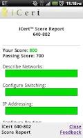 Screenshot of iCert Practice Exam for CCNA