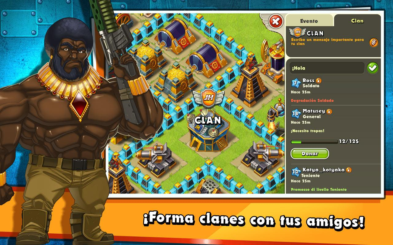 Jungle Heat: War of Clans: captura de pantalla