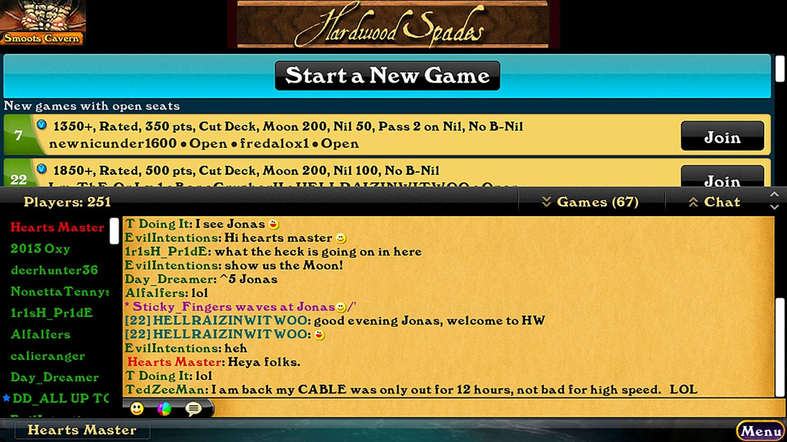 Hardwood Spades - screenshot
