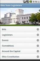 Screenshot of Ohio State Legislature