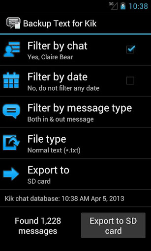 Backup Text for Kik [root]