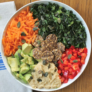 A Simple Rainbow Salad with the Most Delicious Hummus Dressing Recipe