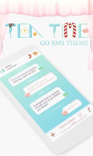 GO SMS PRO TEA TIME THEME