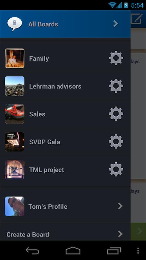 Glassboard - screenshot