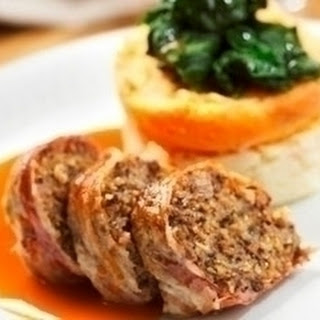 Haggis and Pancetta Roulade with Whisky Sauce Recipe