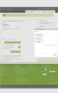 SpocoSMS -write SMS in browser- screenshot thumbnail