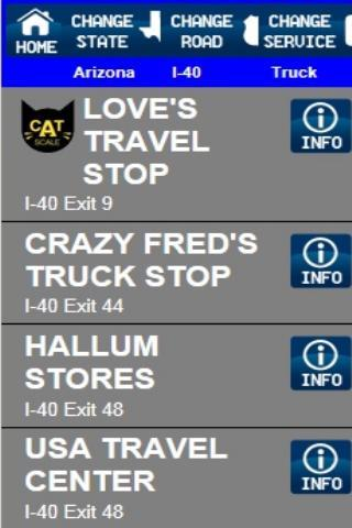 Truck Stops And Services - screenshot
