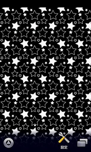星柄♪【スマホ待ち受け壁紙】 ブラック