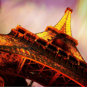 Eiffel at Night by Tim Nichols - Buildings & Architecture Statues & Monuments ( eiffel )
