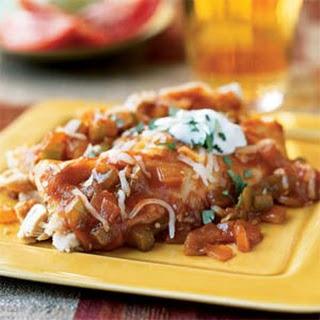 Speedy Chicken and Cheese Enchiladas.