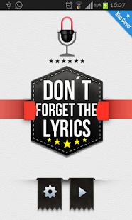 Dont Forget The Lyrics 2013