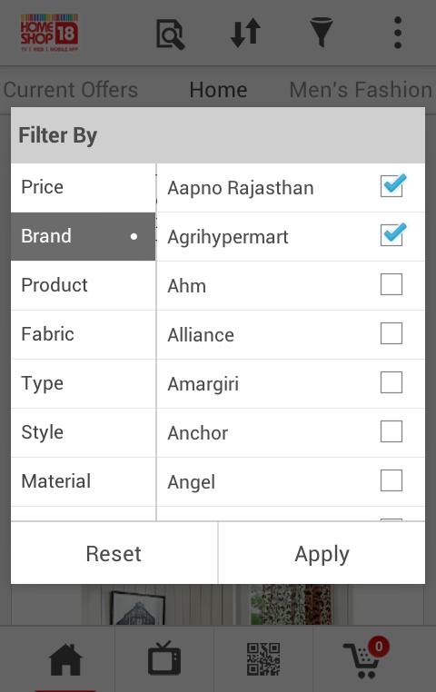 HomeShop18 Mobile - screenshot