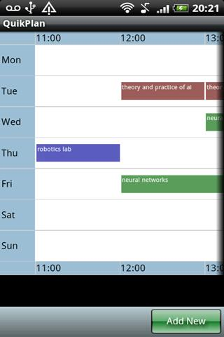 QuikPlan Timetable organizer- screenshot