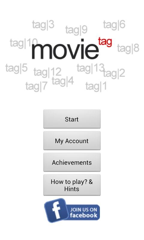 Movie Tag Game- screenshot
