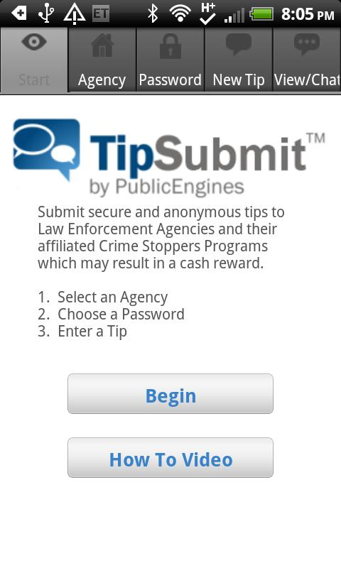 TipSubmit Mobile - screenshot