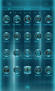 Blux Eve Theme GO Launcher EX - screenshot thumbnail
