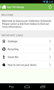 Vancouver Collection Schedule - screenshot thumbnail