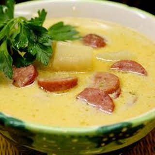 Sausage 'n Stout Cheese Soup.