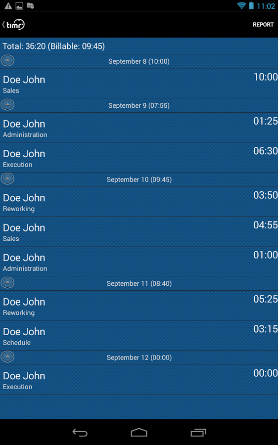 timr -Time and Mileage Tracker - screenshot