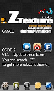 ZTexture GO Launcher Theme - screenshot thumbnail
