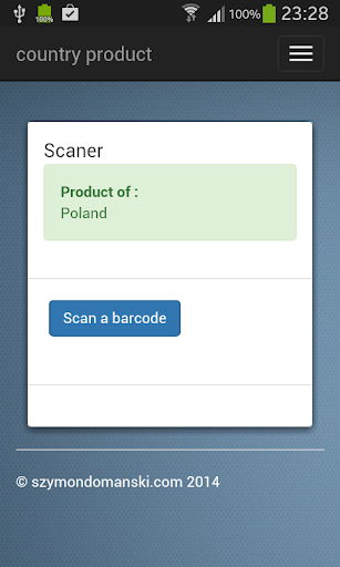 Country Product Barcode scaner