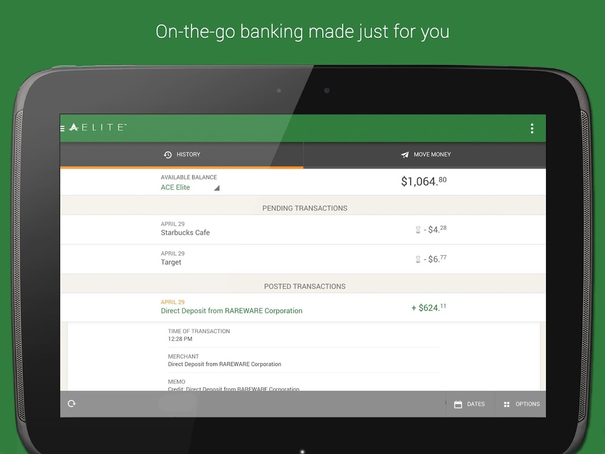 ACE Elite Mobile Banking - screenshot