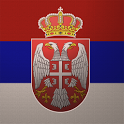 3D Serbian Flag icon