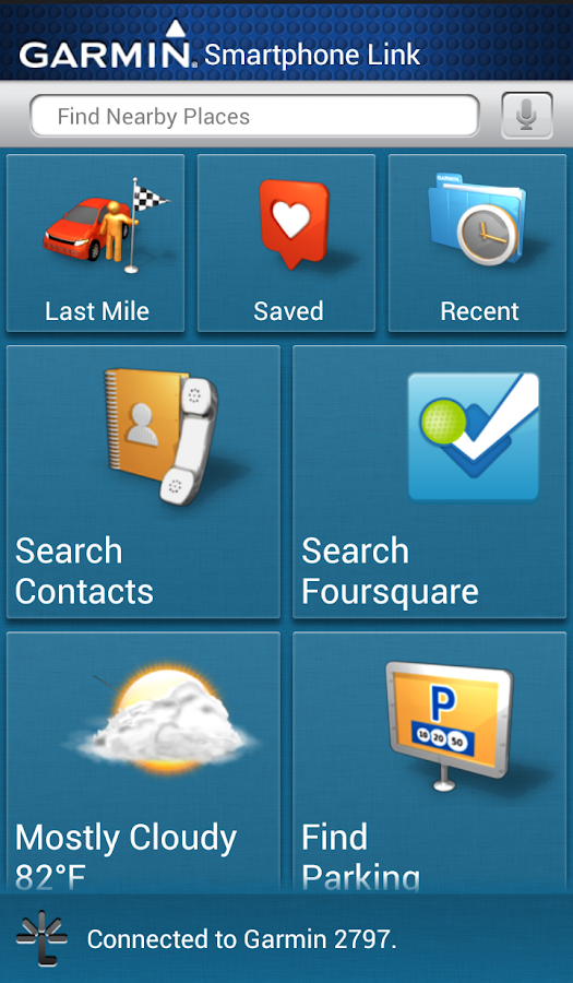Garmin Smartphone Link- screenshot