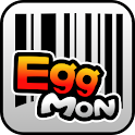EggMon barcode and QR search logo