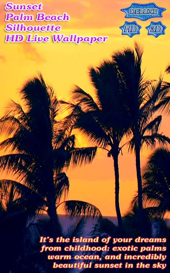 Sunset Palm Beach Silhouette- screenshot