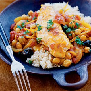 Tilapia with Tomatoes and Garbanzos.