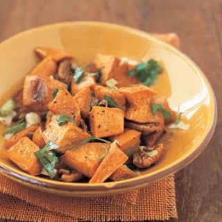 Roasted Sweet Potato Salad with Pecans and Green Onion Recipe