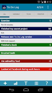 To Do Log- screenshot thumbnail