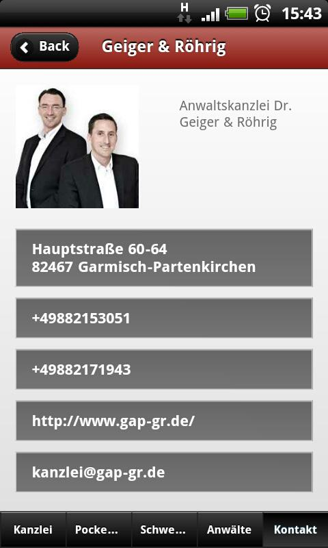 Geiger & Röhrig- screenshot