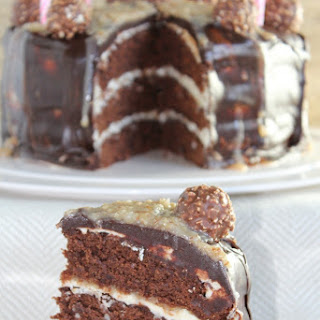 Brownie German Chocolate Cake with Vanilla Buttercream