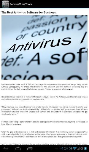 Remove Virus Tools