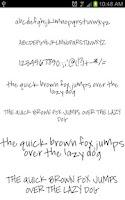 Screenshot of Fonts Hand for FlipFont® Free