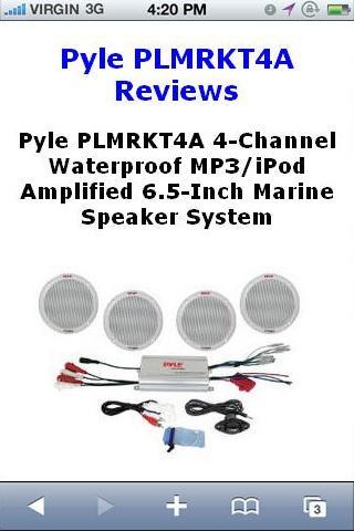 PLMRKT4A Speaker Reviews